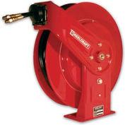 "Reelcraft TH5425 OMP 1/4""x 25' 2000 PSI Medium Pressure Twin Hydraulic Spring Retractable Hose Reel"