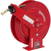 """Reelcraft TW7460 OLP 1/4""""x 60' 200 PSI Spring Retractable Welding Cable Reel"""
