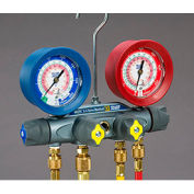 "Yellow Jacket® BRUTE II Manifold With 60"" Ball Valve RYB and 3/8"" x 45° 46013"