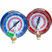 Blue Compound Gauge R-22, R-404A, R-410A 3-1/8""