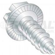 12 X 3/4 Slotted Washer Hex Head Tapping Screw, Package Of 100
