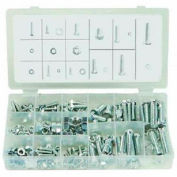 Hex Head Lag Bolts, Zinc Plated Steel, Small Drawer Assortment, 12 Items, 310 Pieces