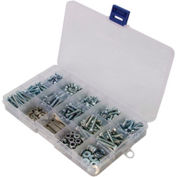Slotted Flat Head Machine Screws W/Nuts, Zinc Plated Steel, Large Drawer Asst, 30 Items, 1150 Pieces