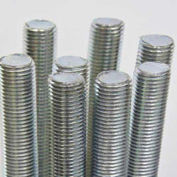 Threaded Rod Assortments, Zinc Plated, 3' Lengths, Includes Cabinet, 12 Items, 24 Pieces