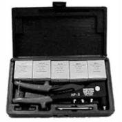 Blind Rivets W/Tool, Aluminum & Steel, Molded Plastic Case, 200 Pieces