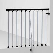 """Arké Civik Balcony Rail Kit 47"""" Gray"""