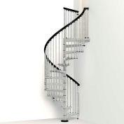 """Arké Enduro Spiral Staircase Kit, (99-3/16"""" to 120-1/16""""), 63"""" Dia., Galvanized"""