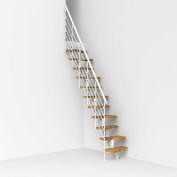 """Arké Oak 30.Xtra Modular Staircase Kit, (90-15/16"""" to 110-1/4""""), 22"""" Tread, White"""