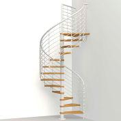 """Arké Oak 70.Xtra Spiral Staircase Kit, (99-3/16"""" to 122-7/16""""), 63"""" Dia., White"""