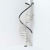 """Arké SKY030 Spiral Staircase Kit 47"""" Dia. 99-5/8"""" to 120-1/2"""" Height Range 1000lbs. Cap. White"""
