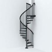 "Arké SKY030 Spiral Staircase Kit 47"" Dia. 99-5/8"" to 120-1/2"" Height Range 1000lbs. Cap. Grey"