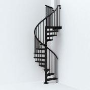 "Arké SKY030 Spiral Staircase Kit 47"" Dia. 99-5/8"" to 120-1/2"" Height Range 1000lbs. Cap. Black"