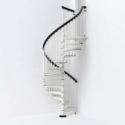 """Arké SKY030 Spiral Staircase Kit 55"""" Dia. 99-5/8"""" to 120-1/2"""" Height Range 1000lbs. Cap. White"""