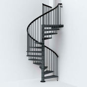 "Arké SKY030 Spiral Staircase Kit 63"" Dia. 99-5/8"" to 120-1/2"" Height Range 1000lbs. Cap. Grey"