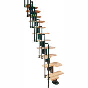 "Arké Karina Modular Staircase Kit, (90-15/16"" to 110-1/4""), 24"" Tread, Black"