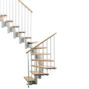 "Arke Kompact Modular Staircase Kit, (88-5/8"" to 119-1/4""), *U* 29"" Tread, White"