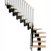 "Arké Kompact Modular Staircase Kit, (88-5/8"" to 119-1/4""), *L* 35"" Tread, Black"