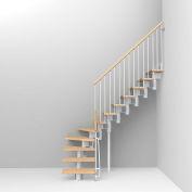"""Arké Kompact Modular Staircase Kit, (88-5/8"""" to 119-1/4""""), *L* 35"""" Tread, White"""