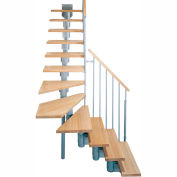 "Arké Kompact Modular Staircase Kit, (88-5/8"" to 119-1/4""), *L* 35"" Tread, Gray"