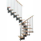 """Arké Kompact Modular Staircase Kit, (88-5/8"""" to 119-1/4""""), *U* 35"""" Tread, Gray"""
