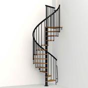 "Arké Nice1 Spiral Staircase Kit, (102-3/4"" to 120-1/2""), 51"" Dia., Black"