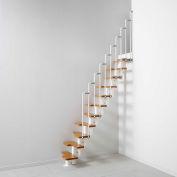 """Arké Nice 2 Modular Staircase Kit 22"""" 90-15/16"""" to 116-15/16"""" Height Range 885lbs. Cap. White"""