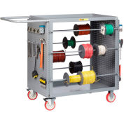 """Little Giant® Wire Reel Cart with Pegboard Ends, 24""""W x 54.25""""L x 41.5""""H"""