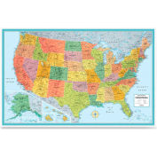 "Rand Mcnally Deluxe United States Wall Map, 50""W x 32""H, 1 Each"