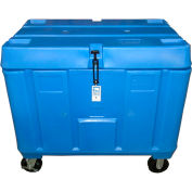 "Polar Chest Dry Ice Storage Container with Lid and Casters PB11DXX - 43""L x 27-1/2""W x 39-1/2""H"