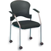 BREEZE Side Chair, FS8270, Black Fabric, Non-Adjustable Arms