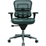 Eurotech Ergohuman Mid Back Chair - LEM6ERGLO-BKCOMBO(N) - Black Mesh/Leather