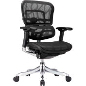 ERGO ELITE Mid Back Chair, ME5ERGLTLOW-BLK, Black Mesh, Adjustable Arms