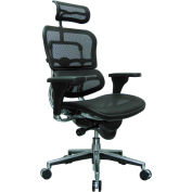 ERGOHUMAN Executive High Back Chair, ME7ERG(N), Black Mesh, Adjustable Arms