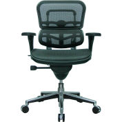 ERGOHUMAN Mid Back Chair, ME8ERGLO(N), Black Mesh, Adjustable Arms