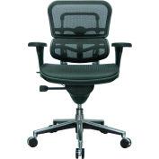 Eurotech Ergohuman Mid Back Chair - ME8ERGLO(N) - Black Mesh