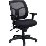 APOLLO Manager Chair, MFT945SL, Black Fabric / Mesh, Adjustable Arms