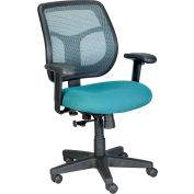 APOLLO Task Chair, MT9400-GRN, Green Fabric / Mesh, Adjustable Arms