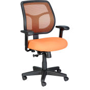 APOLLO Task Chair, MT9400-ORANGE, Orange Fabric / Mesh, Adjustable Arms