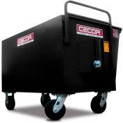 CECOR® Heavy-Duty Tall Profile Dumping Cart - 13.4 cu.ft.
