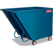 CECOR® Dumping Tilt Truck TA-340-6R - Steel, 40 cu.ft. Black