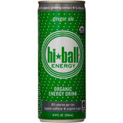 HiBall Ginger Ale Organic Energy Drink 8.4 Oz - Pack of 24