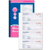 "Adams® Money/Rent Receipt Book, 3-Part, Carbonless, 7-5/8"" x 11"", 100 Sets"