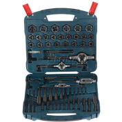 BOSCH® Tap & Die Set, B44716, Black Oxide, 77-Piece