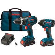 BOSCH® CLPK232-181, 18V Tool Kit W/Compact Drill/Driver & Impact Fastening Driver