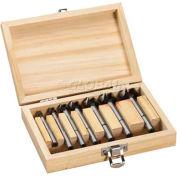 "BOSCH® Forstner Bit Set W/Wood Case, 3/8"" Shank, 7-Piece"