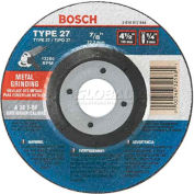 "BOSCH® 7"" X 1/4"" Grinding Wheel For Long Life Metal, 30 Grit, 7/8"" Arbor - Pkg Qty 10"