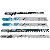 BOSCH® T-Shank Jigsaw Blade Set, T500, Professional Grade, 10-Piece - Pkg Qty 5