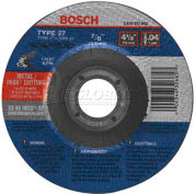 """BOSCH® 4"""" X .040"""" Cutting Wheel For Stainless/Metal, TCW27S400, 60 Grit, 5/8"""" Arbor - Pkg Qty 25"""