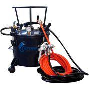 California Air Tools Pressure Pot 365, 80 Max PSI, 5 Gallon Tank, HLVP Spray Gun & Hose
