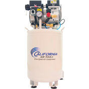 California Air Tools CAT-10010DCAD, 1HP, Single-Stage Comp, 10  Gal, Vert., 125PSI, 2.2CFM, 1PH 110V